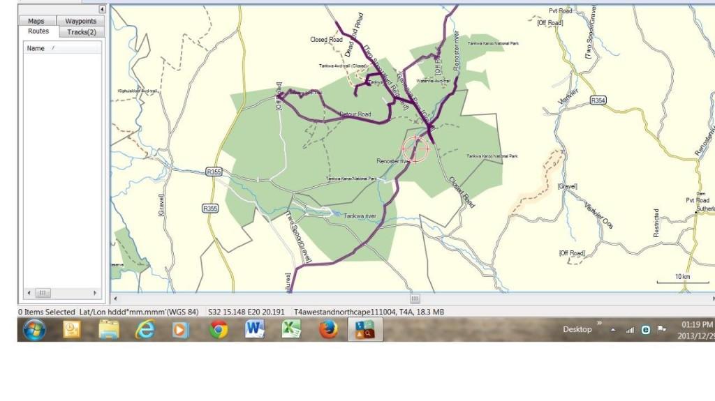 Tankwa Karoo Area Map